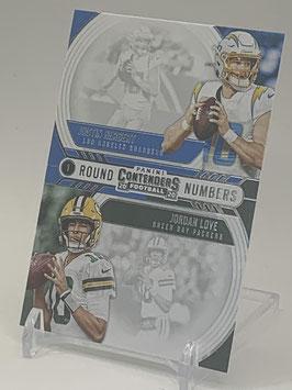 Justin Herbert/ Jordan Love (Chargers/ Packers) 2020 Contenders Round Numbers #RN-HL