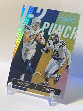 Philip Rivers/ Keenan Allen (Chargers) 2018 Absolute 1-2 Punch #OTP-PK
