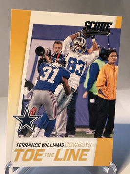 Terrance Williams (Cowboys) 2016 Score Toe the Line Gold #14