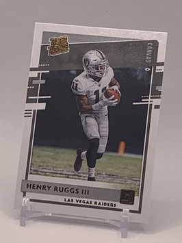 Henry Ruggs III (Raiders) 2020 Donruss Rated Rookie Canvas Bronze #308