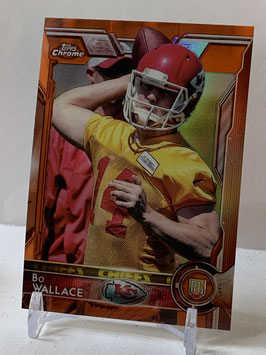 Bo Wallace (Chiefs) 2015 Topps Chrome Orange Refractor #188
