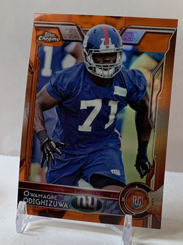 Owamagbe Odighizuwa (Giants) 2015 Topps Chrome Orange Refractor #176