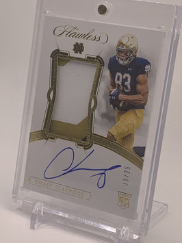 Chase Claypool (Notre Dame/ Steelers) 2020 Flawless Collegiata Jersey Autograph Gold #137