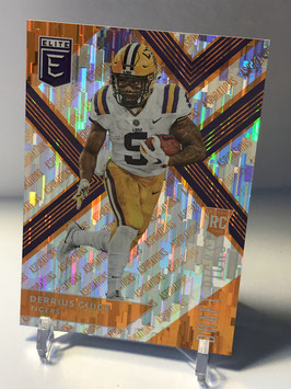 Derrius Guice (LSU/ Redskins) 2018 Panini Elite Draft Picks Aspirations Orange #106