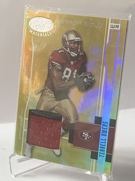 Terrell Owens (49ers) 2003 Leaf Certified Materials Mirror Gold Materials #112