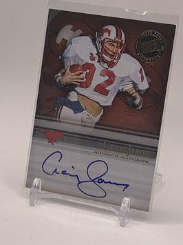Craig James (SMU/ Patriots) 2008 Press Pass Legends Bowl Edition Semester Signatures Autograph #SS-CJ