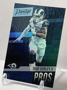 Todd Gurley (Rams) 2019 Prestige Prestigious Pros Xtra Points Blue #PP-TG