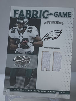 Correll Buckhalter (Eagles) 2007 Certified Fabric of the Game Positions #FOG-22