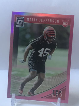 Malik Jefferson (Bengals) 2018 Donruss Optic Pink #123