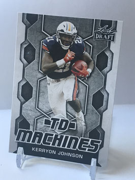 Kerryon Johnson (Auburn/ Lions) 2018 Leaf Draft TD Machines #TD-11