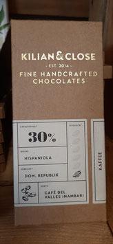 "weiße Schokolade ""Kaffee"" 30% Kakao 80g"