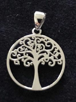 7111546 Lebensbaum poliert in Silber 930