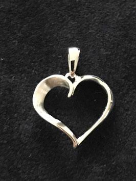 711058 Herz Anhänger Silber 930