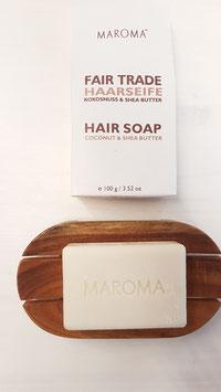 *NEU Haarseife 100g auf Bio-Kokosbasis + Sheabutter ohne Duftstoffe 100g