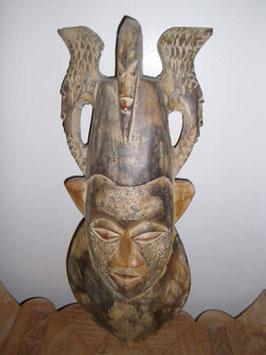 Große Maske der Ashanti aus Ghana