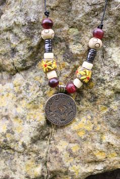 Wikinger Halskette mit Amulett BRAKTEAT - Bronze