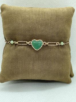 Bracciale Cuore Verde Smaltato BR2951