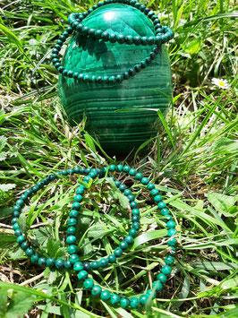Bracelet en perles de Malachite 4 mm