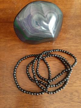 Bracelet en perles d'Obsidienne œil céleste 4 mm