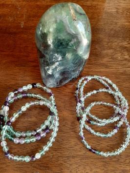 Bracelet en perles de Fluorite 4 mm