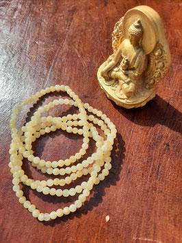 Bracelet en perles de Jaspe jaune 4 mm
