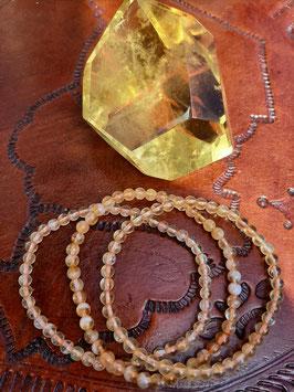 Bracelet en perles de Citrine 4 mm