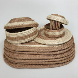 JUEGO DE MESA     manteles ovalados / color natural / vivos camel