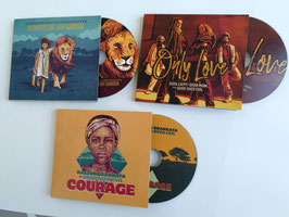 Pack 3 CD's; Courage + Flowers in Jah Garden + Only Love