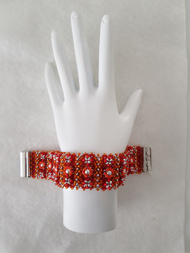 TAPESTRY PETITE IN RED AND ORANGE