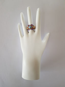 FLIP RING IN PURPLE, BLUE AND GOLD