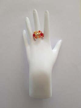 FLIP RING IN RED, ORANGE AND GOLD