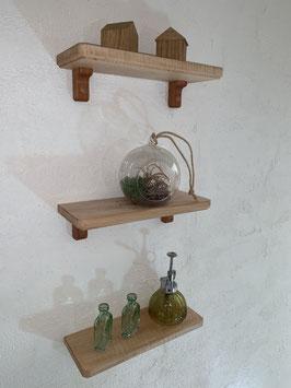 無垢ウォールシェルフ/トチの木・3個セット
