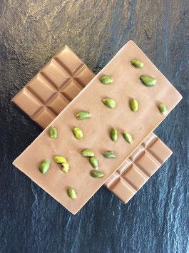 Vollmilch Schokolade 35% mit ganzen Pistazien - 95 Gramm