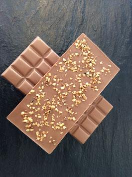 Vollmilch Schokolade 35% mit Haselnusskrokant - 95 Gramm