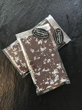 Zartbitter Schokolade 55% mit Fleur de Sel - 95 Gramm