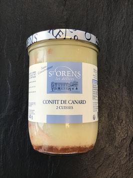 ST ORENS Confit de Canard 2 Entenschenkel 730 g gesamt