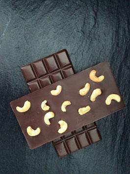 Zartbitter Schokolade 55% mit gerösteten Cashewkernen - 95 Gramm