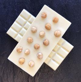 Weiße Schokolade 35% mit karamellisierten Haselnüssen - 95 Gramm