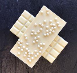 Weiße Schokolade 35 % mit knusprigen weißen Perlen - 95 Gramm