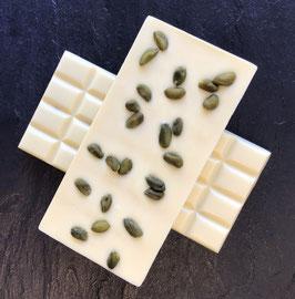 Weiße Schokolade 35% mit ganzen Pistazien - 95 Gramm