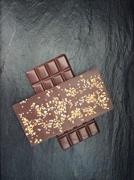 Zartbitter Schokolade 55% mit Haselnusskrokant - 95 Gramm