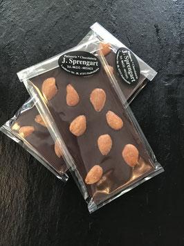 Zartbitter Schokolade 55% mit karamellisierten Mandeln - 95 Gramm