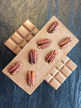 Vollmilch Schokolade 35% mit karamellisierten Pekannüssen- 95 Gramm