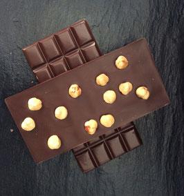 Zartbitter Schokolade 55% mit karamellisierten Haselnüssen  - 95 Gramm