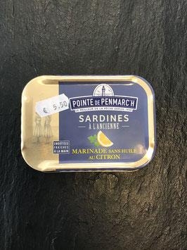 Sardinen mit Zitronenmarinade - ohne Öl -  115 g gesamt