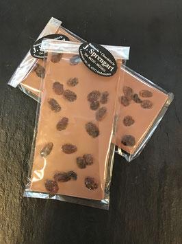 Vollmilch Schokolade 35% mit getrockneten Sultaninen - 95 Gramm