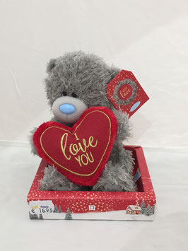 Me To You Knuffel 'I Love You - Heart' - 16 centimeter (With Love Wintertime)