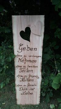 Hochzeit Holzschild -Spruch