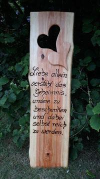 Hochzeitsspruch , Holzschild