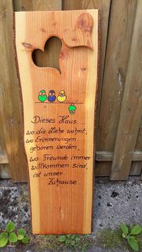 Familien-Schild , Holz - Gravur